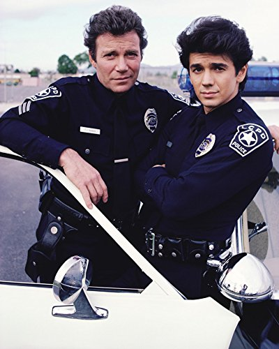 william-shatner-and-adrian-zmed-in-tj-hooker-in-police-uniform-16x20-canvas