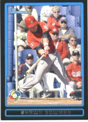 Shawn Bowman - Canada (World Baseball Classic) 2009 Bowman Draft WBC Prospects Baseball Card # BDPW28 - MLB Baseball Trading Card