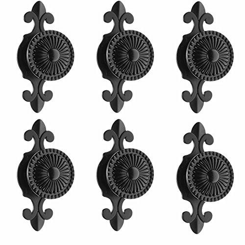 FirstDecor 5PCS Retro Style Round Door Knob with Zinc Alloy Base Door Handle Pull Knobs for Drawer,Cabinet,Chest, Bin, Dresser, Bathroom,Cupboard, Etc with Screws