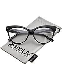 Women's Oversize Wide Arms Clear Lens Cat Eye Eyeglasses...