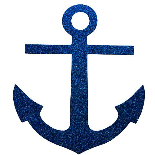 Anchor Decoration - Nautical Sailor Glittered Anchor Cutouts Party Supplies Decorations (12)