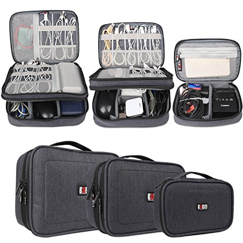 BUBM 3pcs Electronic Travel Organizer