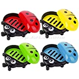 MIJORA-Ladybug Bathroom Shower Soap Box Case Tray Plate Travel Soap Dish Holder(random color)