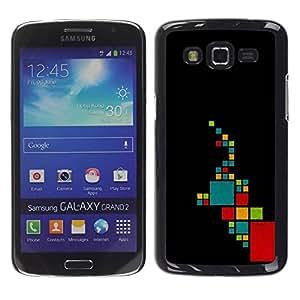 Paccase / SLIM PC / Aliminium Casa Carcasa Funda Case Cover para - Pattern Minimalist Teal Red - Samsung Galaxy Grand 2 SM-G7102 SM-G7105