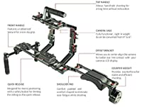 FILMCITY Carbon Fiber DSLR Video Camera Shoulder Stabilizer Rig Kit with Cage & Matte Box (FC-02-CF) Shoulder Support Mount with Free Accessories by FILMCITY