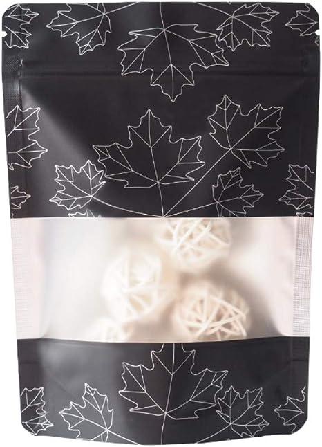 100X Aluminum Foil Packaging Bags Resealable Zip Bags Reusable Food Pouches