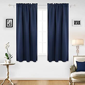 back home blackout navy curtain best tab insulated dp pocket com amazon curtains thermal fashion rod