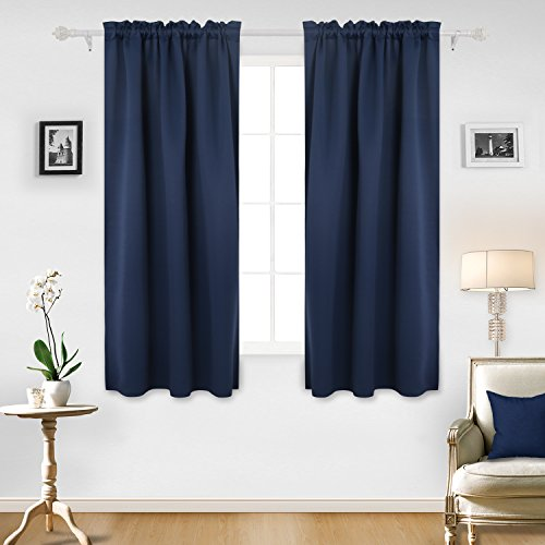 Cheap  Deconovo Room Darkening Curtain Rod Pocket Curtain Panel Thermal Insulated Blackout Curtains..