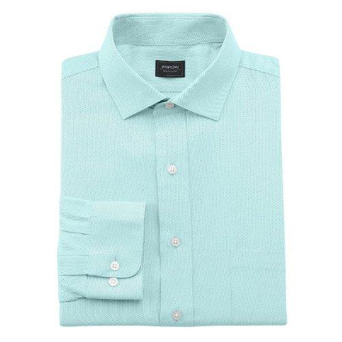 Arrow Men's Classic Fit Twill Spread Collar Wrinkle Free Dress Shirt Mint Green (17 1/2 Neck  36/37 (Green Arrow Suit)