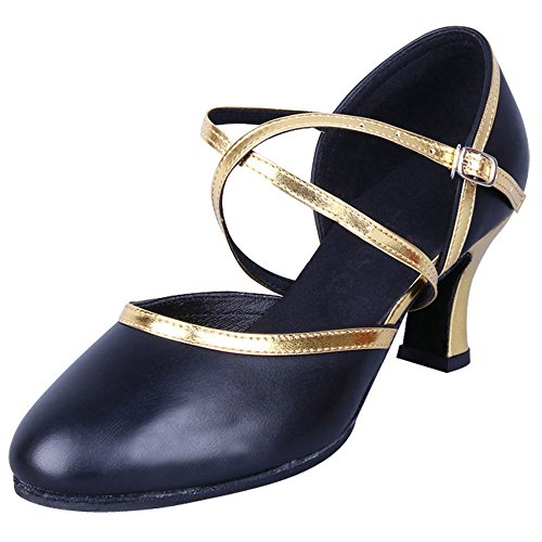 Damessentaal Latin Salsa Tango Ballroom Dansschoenen Zwart Goud Zwart / Goud