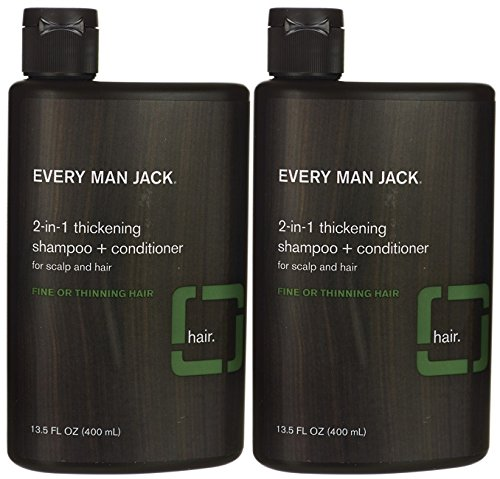 Every Man Jack 2-in-1 Thickening Shampoo & Conditioner 13.50 oz ( Pack of 2) by Every Man Jack