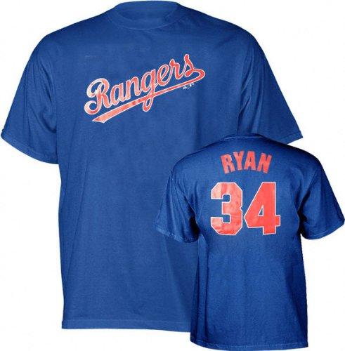 Texas Nolan Ryan Rangers Numbers (Nolan Ryan Majestic Cooperstown Throwback Player Name and Number Texas Rangers T-Shirt - X-Large)