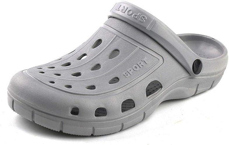 Zapatillas de Zuecos de jardín para Hombres Sandalias de Fondo Suave para Hombres Zapatillas Ligeramente Grises: Amazon.es: Zapatos y complementos