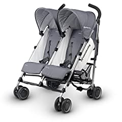 The UPPAbaby G-Link Stroller features a lightweight aluminum frame, with side-by-side seating. The Infant Support System allows for seats to fully recline, and combined with an infant head support and mesh foot enclosurer, the G-Link allows f...