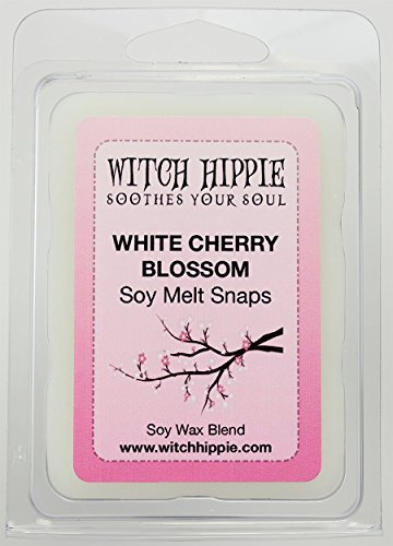 White Cherry Blossom Scented Wickless Candle Tarts, 6 Natural Soy Wax Cubes By Witch - Blossom Cherry Canada