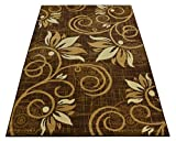 """Normian Collection Flowers Floral Design Area Rug Rugs Area Rug 6 Color Options (Brown Beige, 4'9″ x 6'10"""") Review"""