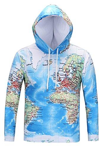 Usa Map Mens Hoodie - 7