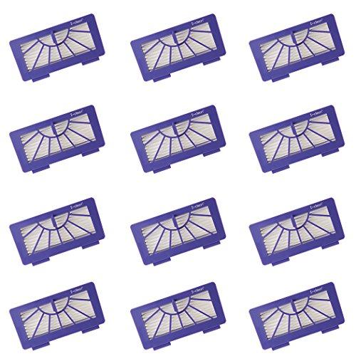 I-depollute Replacement Neato XV Signature Pro Filters[12PACKS] for Neato Robotics XV 21, XV 12,XV 11,XV 14