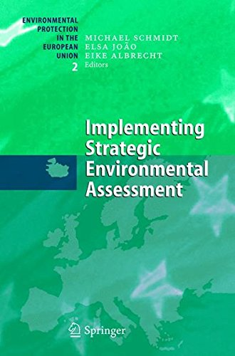 Implementing Strategic Environmental Assessment (Environmental Protection in the European Union) pdf