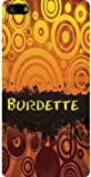 Personalized iPhone 5 back cover case / skin with Burdette (first name/surname/nickname)