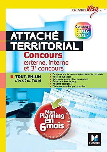 31a61039c39 Concours Attaché territorial - Mon planning en 6 mois - Tout-en-un express