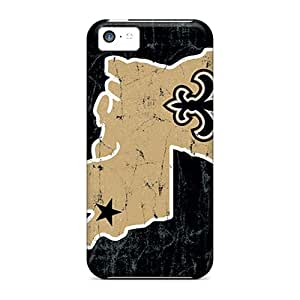 New Michlles Super Strong New Orleans Saints Tpu Case Cover For Iphone 5c
