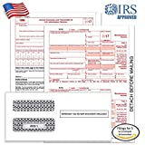 #2: 1099 MISC Tax Forms for 2017 - 4-Part Form Sets for 5 Vendors, 1096 Summary, and Confidential Envelopes (5)