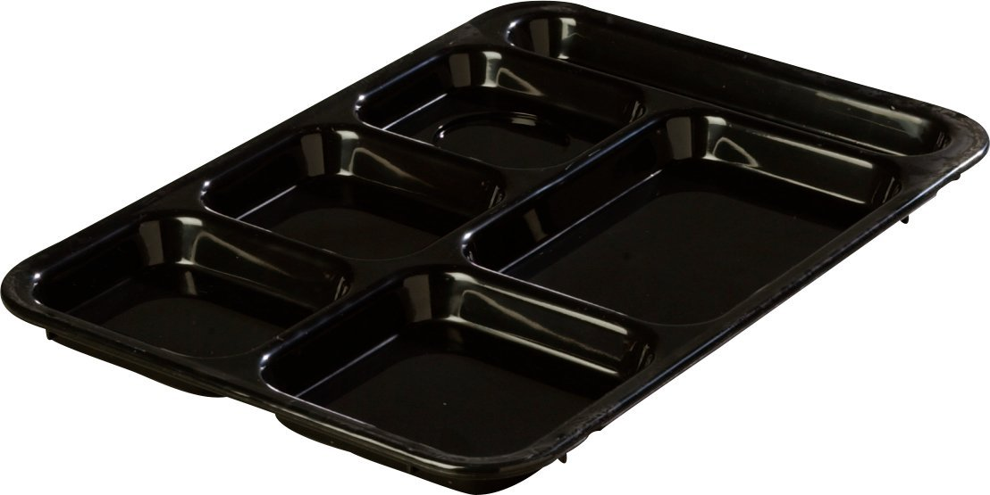 Carlisle P614R09 Right-Hand 6-Compartment Polypropylene Tray Green 10 x 14