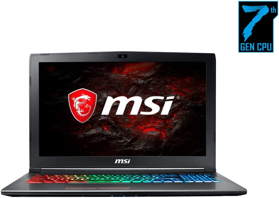 "MSI GF62VR 7RF-877 Laptop (Windows 10 Home, Intel Core i7-7700HQ, 15.6"" LCD Screen, Storage: 1024 GB, RAM: 16 GB) Black"