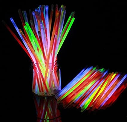 Smartcraft Glow Stick (Pack of 100),Light up Toys Glow Stick Bracelets Mixed Colors Party Favors Supplies,Tube of 100,(Diwali Glow Sticks) Light-Up & Glow-in-the-Dark Toys at amazon