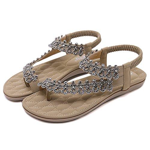 Tama Caretoo De Casuales Albaricoque Flops Las Playa Flip Ladies Romanas Mujeres Sandalias Zapatos O Ms Moda El Bohemia RCR0rvn5