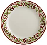 "Pickard ""Winter Festival"" Fine China 10-7/8-Inch Dinner Plate, Set of 4"