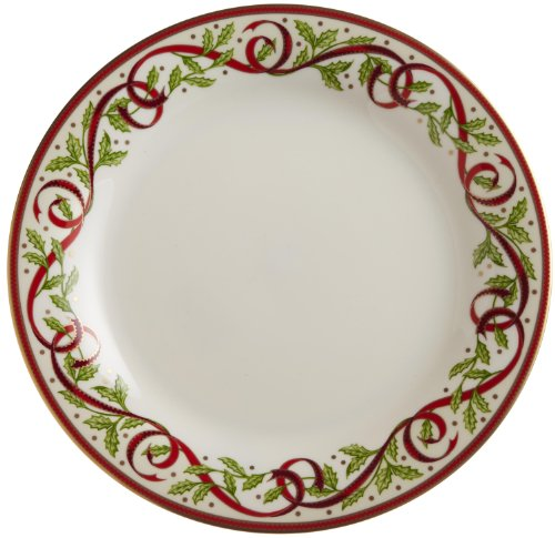 "Pickard""Winter Festival"" Fine China 10-7/8-Inch Dinner Plate, Set of 4"