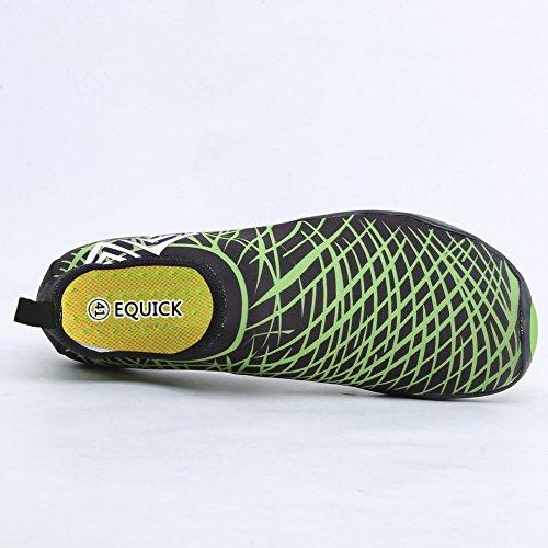 EQUICK Wasserschuhe Aqua Sport Turnschuhe Slip On Schnell Trocknend Für Männer Frauen Kinder Angeln 1b.grün