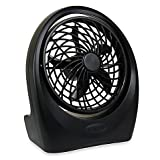 O2cool Portable PlusTM 5-inch Battery Powered Portable, Lightweight, Durable Fan