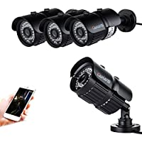 4 x 1080P Security Bullet Camera System 3.6mm Wide Angle Lens 24 IR LEDs Waterproof IP67 Motion Detection HD Surveillance Camera Compatible with 1080N 1080P DVR System(Pack of 4pcs)