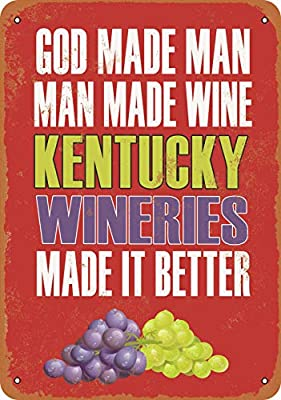 Wall-Color 10 x 14 Metal Sign - Kentucky Wineries Make Better Wine - Vintage Look
