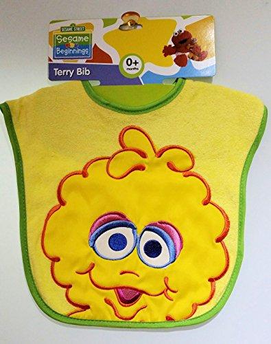 Sesame Big Bird Terry Bib Yellow
