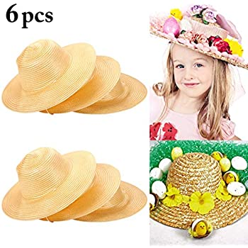 d602ade1b60 Amazon.com  Dozen Straw Cowboy Hats for Kids - Makes Great Birthday ...