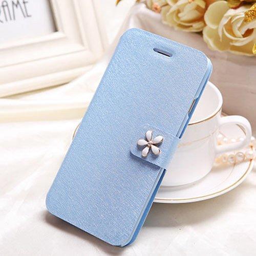 PU Ledertasche Schutzhülle Flip einzigartig und besonders smart case mit Standfunktion wie wallet Tasche kann Karte einlegen (iphone 5/5s/5SE, Blau)