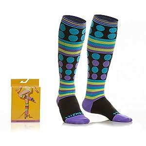 NEWZILL SWAG Compression Socks (20-30mmHg) for Men & Women, BEST Graduated Athletic Fit for Running, Nurses, Edema, Diabetic, Shin Splints, Flight Travel & Pregnancy (Swag Purple, Small)