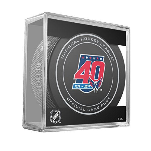 Washington Capitals 40th Anniversary NHL Hockey Official Game Puck in Cube (2014-15 season)