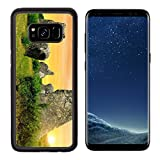 Luxlady Premium Samsung Galaxy S8 Aluminum Backplate Bumper Snap Case IMAGE ID: 34536346 Megalithic monuments menhirs in Carnac Brittany France