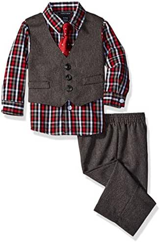 Nautica Baby Boys' Vest, Shirt and Pant Set