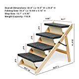 MEWANG Wooden Dog Stairs/Steps - Foldable 4