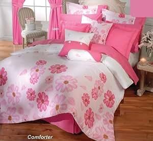 Pink White Comforter Sheets Bedding Set Full 13 Pcs Home Kitchen