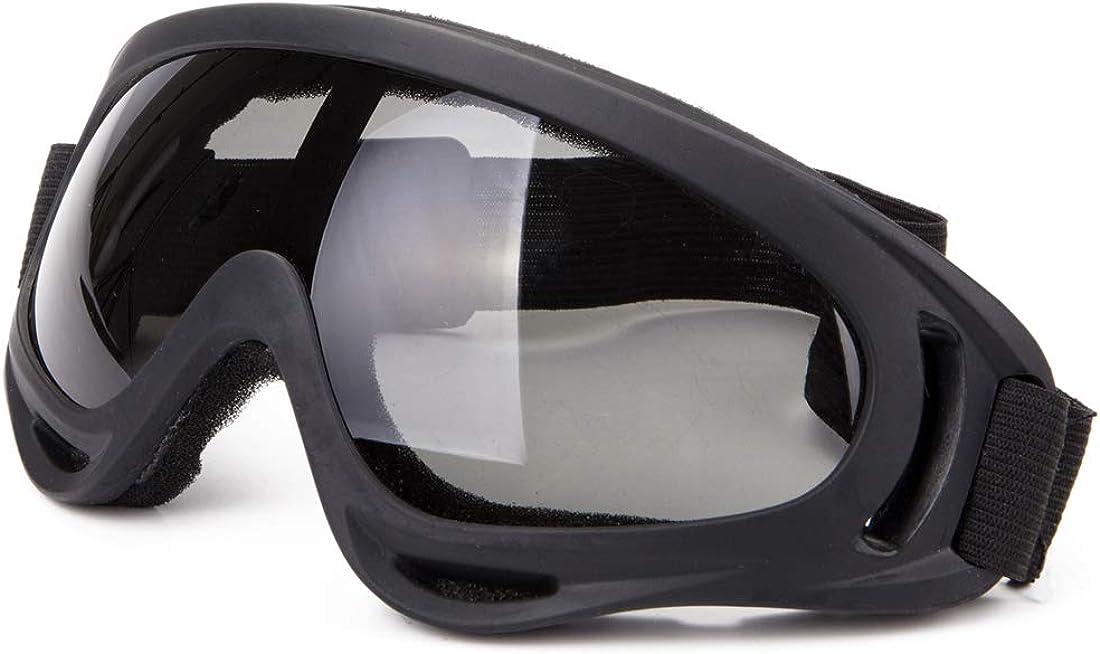 DODOING - Gafas de esquí unisex, resistentes al viento, 100% protección UV, para ciclismo, motos de nieve, esquí, deportes al aire libre