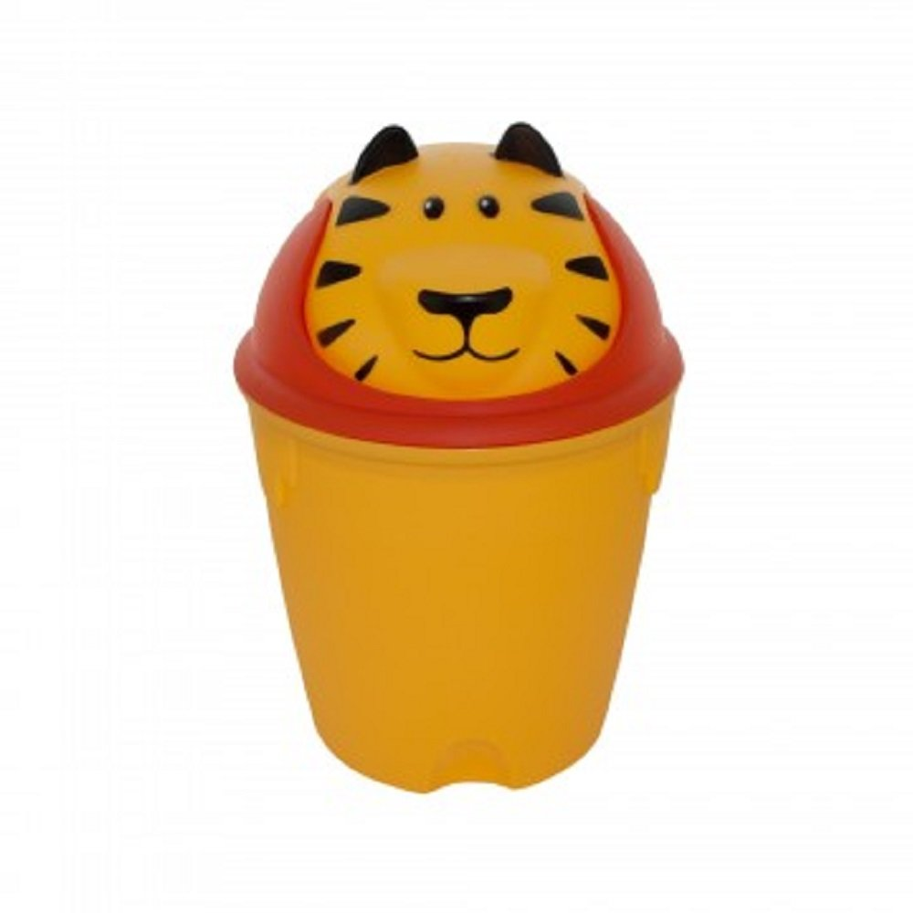 Kole Imports Animal Trash Can - Tiger (orange)