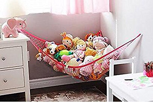 - AdanToys Storage Hammock, Organizer for Stuffed Animals, Toys, dolls and other collections(L: 70.8 x 47.2 x 47.2 inch / 180 x 120 x 120 cm,pink)