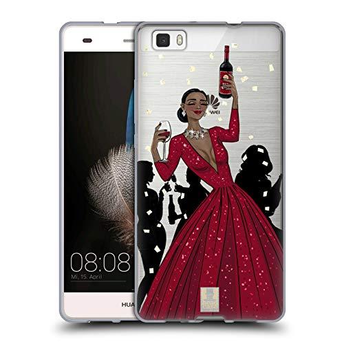 - Head Case Designs Black Woman Red Dress Wine Celebration Soft Gel Case for Huawei P8lite / ALE-L21